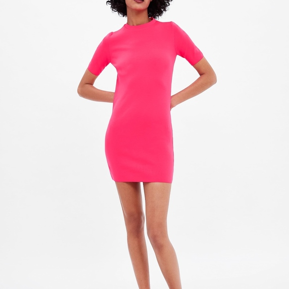 d455c358 Zara Dresses | Neon Hot Pink Dress | Poshmark